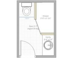 Pin By Ellen Ruggieri On Bathroom Bathroom Design Layout Bathroom Plans Small Basement Bathroom