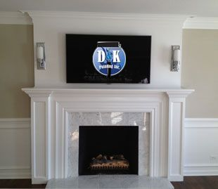 Custom Interior Paint Job White Fireplace Mantels Fireplace