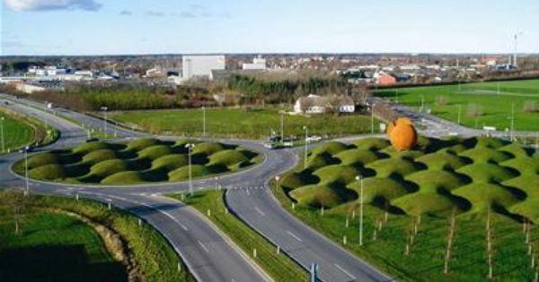 roundabout aabybro denmark landscape architecture around the world