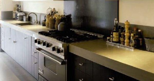 Keuken zwart beton keukens pinterest - Witte steen leroy merlin ...