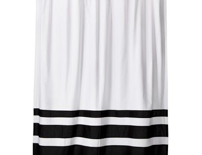 Color Block Shower Curtain Black White Threshold Colors Showers And Target