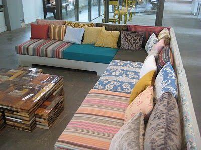 Hedendaags Piet Hein Eek in Strijp R | Bank zelf maken, Chill kamer, Ideeën BL-48