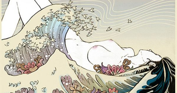 """The Great Wave off Kanagawa"" + Female 