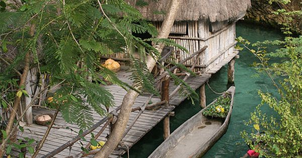 Xcaret mayan village . Yucatan Mexico