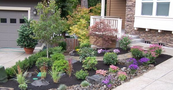 Beautiful landscape for small front yards without grass for Beautiful small front yards