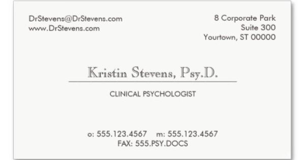 Simple Classic Professional Appointment Card Business Card