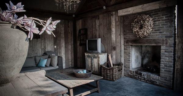 Overkapping in een hoffz stijl gang pinterest veranda tuin en buitenleven - Deco gang huis ...