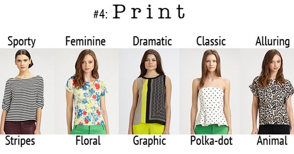 5 Factors That Determine Fashion Personality 4 Print Style Types Pinterest More