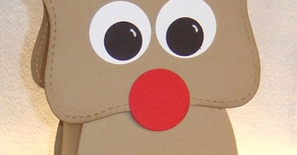 Rudolph Reindeer Christmas Party Favor Classroom Teacher Gift