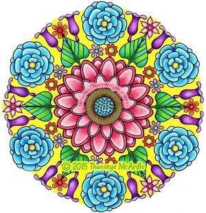 Flower Mandalas Coloring Book By Thaneeya Mcardle Mandala Coloring Pages Mandala Coloring Flower Mandala