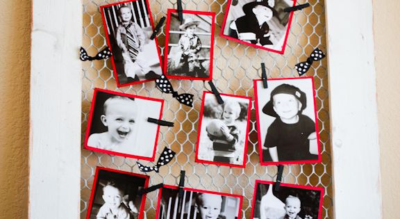 DIY Chicken Wire Frame - for pictures, hair accessories, christmas cards, etc.