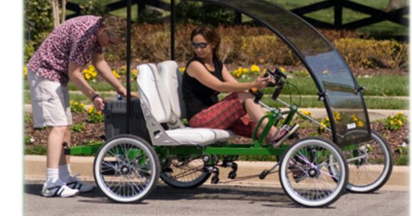 2-Person, 4-Wheel Sport Ped Quadricycle With Electric