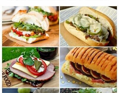 Favorite Sandwich Recipes ; 20 Fuss-Free Chicken Sandwich Recipes for Lunch or Dinner. For lunch or dinner, try these easy-to-make hot and cold chicken sandwiches. Ham and Pork Sandwich Recipes Brown-Bag Lunches ; Pinterest Facebook Comment Twitter Google+. Magazines & More.