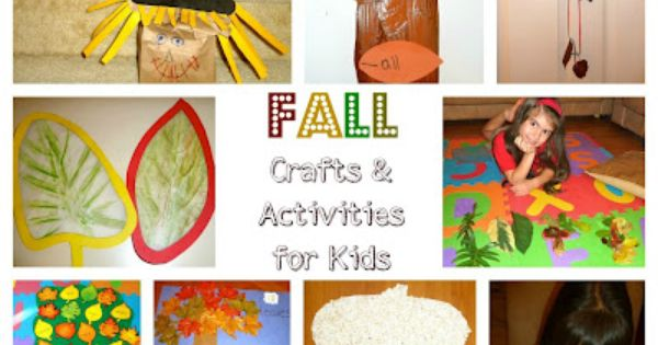 Kids Fall Craft Activities More fun craft ideas --> http://www.sewmuchcraftiness.com