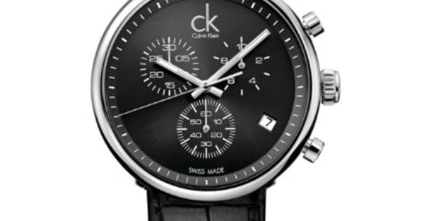 calvin klein herren armbanduhr xl substantial chronograph. Black Bedroom Furniture Sets. Home Design Ideas