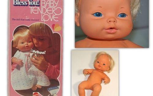 70s Doll Sneezy You Sneezes Press Tummy 1974 Estate