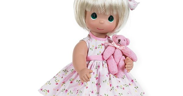 Precious Moments Bear Blessings Doll With Blond Hair Multi In 2020 Precious Moments Dolls Precious Moments Doll Maker