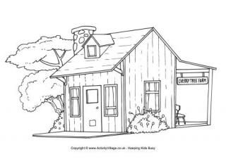 Farm Colouring Pages House Colouring Pages Farm Coloring Pages