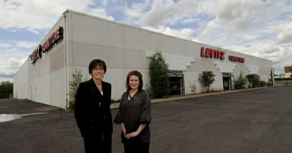 Two Women In Front Of Levitz Furniture | Levitz Furniture | Pinterest |  Womenu0027s And Furniture