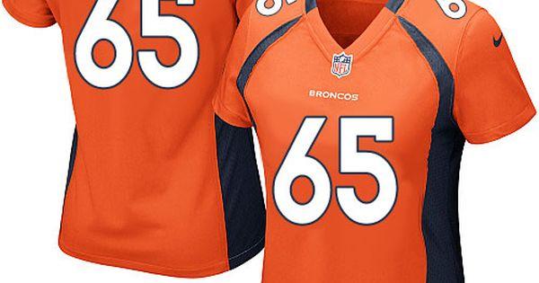 womens nike denver broncos 65 manny ramirez limited orange team color nfl jersey