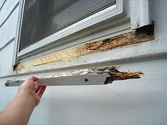 Fixing A Rotted Window Sill Wood Repair Home Repairs Wood Window Sill