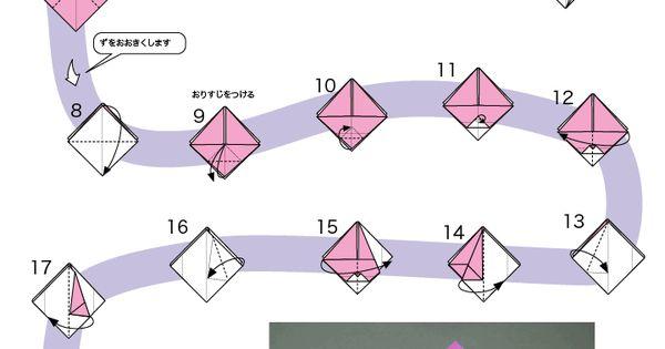 すべての折り紙 ぽち袋 折り紙 : うさぎのぽち袋 折り方 | Origami ...