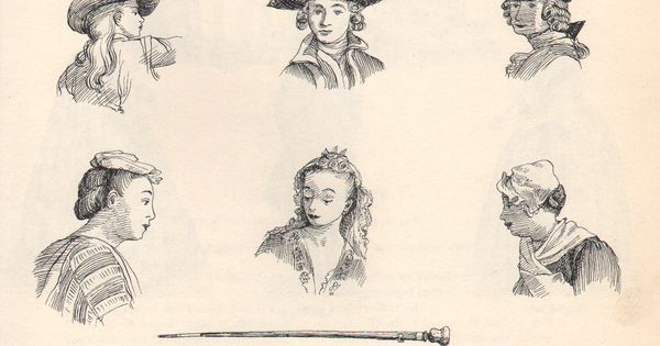 1700's Men's & Women's Fashion.   Old Time Hairstyles