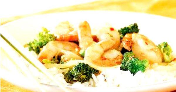 روبيان مقلي بالقرنبيط وجبتك تمتعي بلذة طبق الروبيان الحار يقدم مع الأرز البسمتي أو الياسمين يمكن تقديمه مع شريحة لحم بقر أو دجاج Food Meat Shrimp