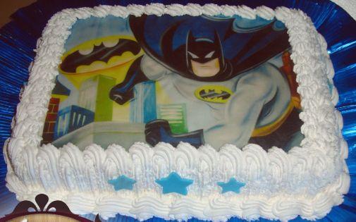 Bolo Do Batman Com Papel Arroz Batman Festabatman Bolo Batman