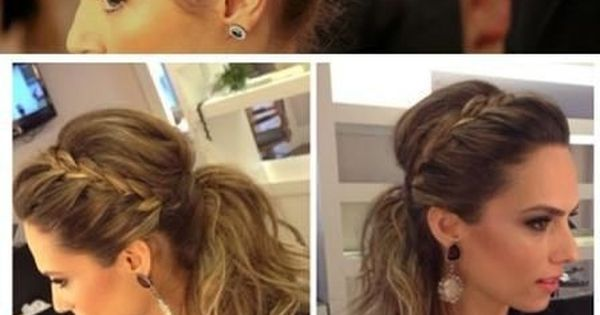love this! bridesmaid hair idea!