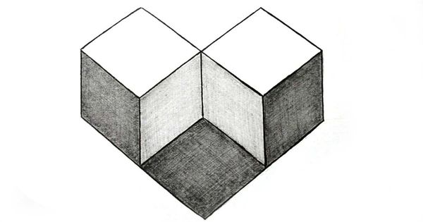 How to draw simple geometry shape optical illusion art for Geometric illusion art