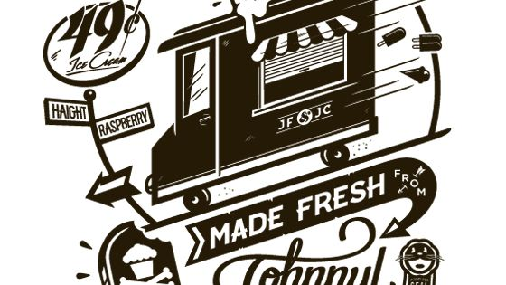 johnny cupcakes x junk food tastemakers tour | illustration by chris delorenzo.
