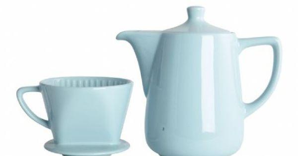 kaffeekanne mit filter hellblau geschirr k che shabby geschenkideen grit. Black Bedroom Furniture Sets. Home Design Ideas
