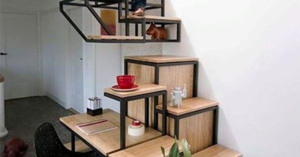 Tof ontwerp voor trap boekenkast en bureau in een obly entree hal pinterest bureaus - Interieur ontwerp trap ...