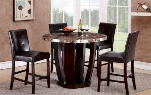 Gtu Furniture Faux Marble Top Dining Table Set Offers Luxury And