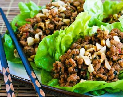 Kalyn's Kitchen: Asian Lettuce Wraps or Lettuce Cups with Spicy Ground Turkey