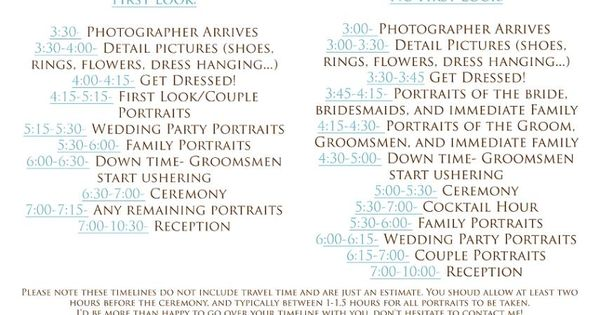 How To Create The Perfect Reception Timeline: Yes But Everything 1 Hr Earlier?? Wedding Day Timeline 4pm