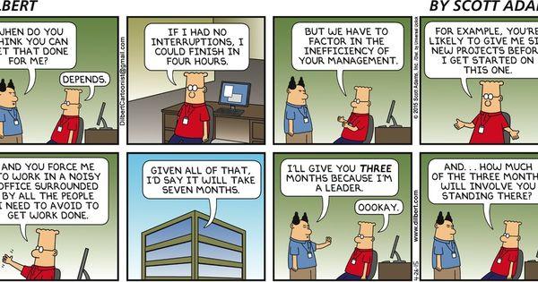 Another great argument for telecommuting. - Dilbert by Scott Adams  Comics  Pinterest  You