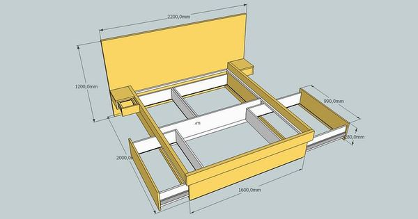 Build Platform Bed With Drawers Platform Bed With