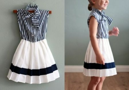 Omg!!!!!! This is sooooooo cute!!!!! Baby nautical little girl dress.