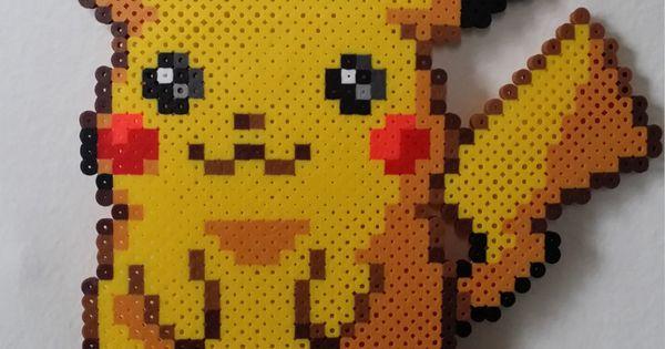 Pikachu Pokemon Perler Bead Sprite By Pokemonperlersplus On Etsy Hamma Pokemons Pinterest