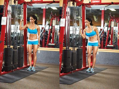 Try this High-cable Side Crunch abs exercise move to work ...