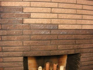 If You Don T Like It Then You Should Put Some Stain On It Stained Brick Stained Brick Exterior Brick Fireplace