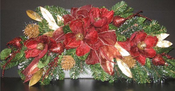 17 Best Images About Poinsettias Centerpieces Holiday
