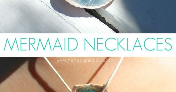 making this with my little girl one day... Mermaid necklaces