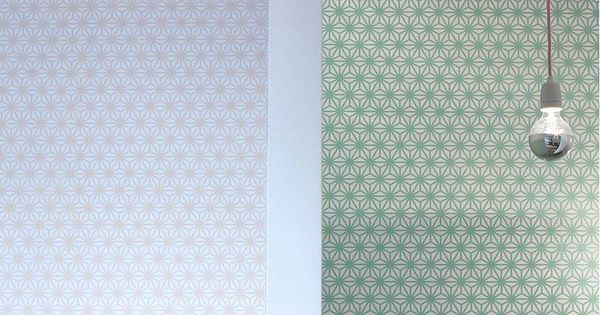 papier peint du salon de massages japonais yuzuka paris 75007 le motif asanoha traditionnel. Black Bedroom Furniture Sets. Home Design Ideas