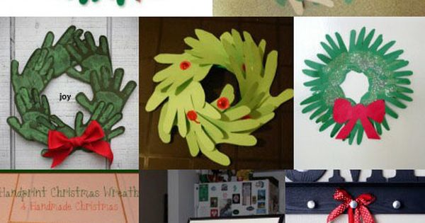 Pinterest Christmas Craft Ideaswhreths | Handprint and Footprint Art : Handprint Wreath