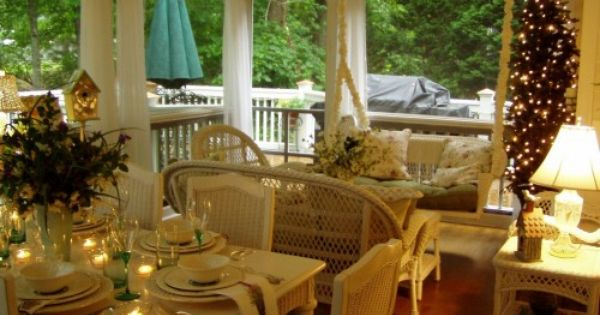 Porches, Screened porches and Christmas on Pinterest