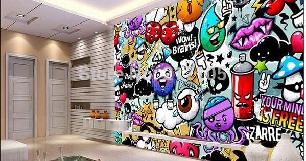 graffiti behang google zoeken knutselen pinterest. Black Bedroom Furniture Sets. Home Design Ideas