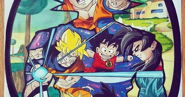 Mural arte goku c manga pinterest for Dragon ball z mural